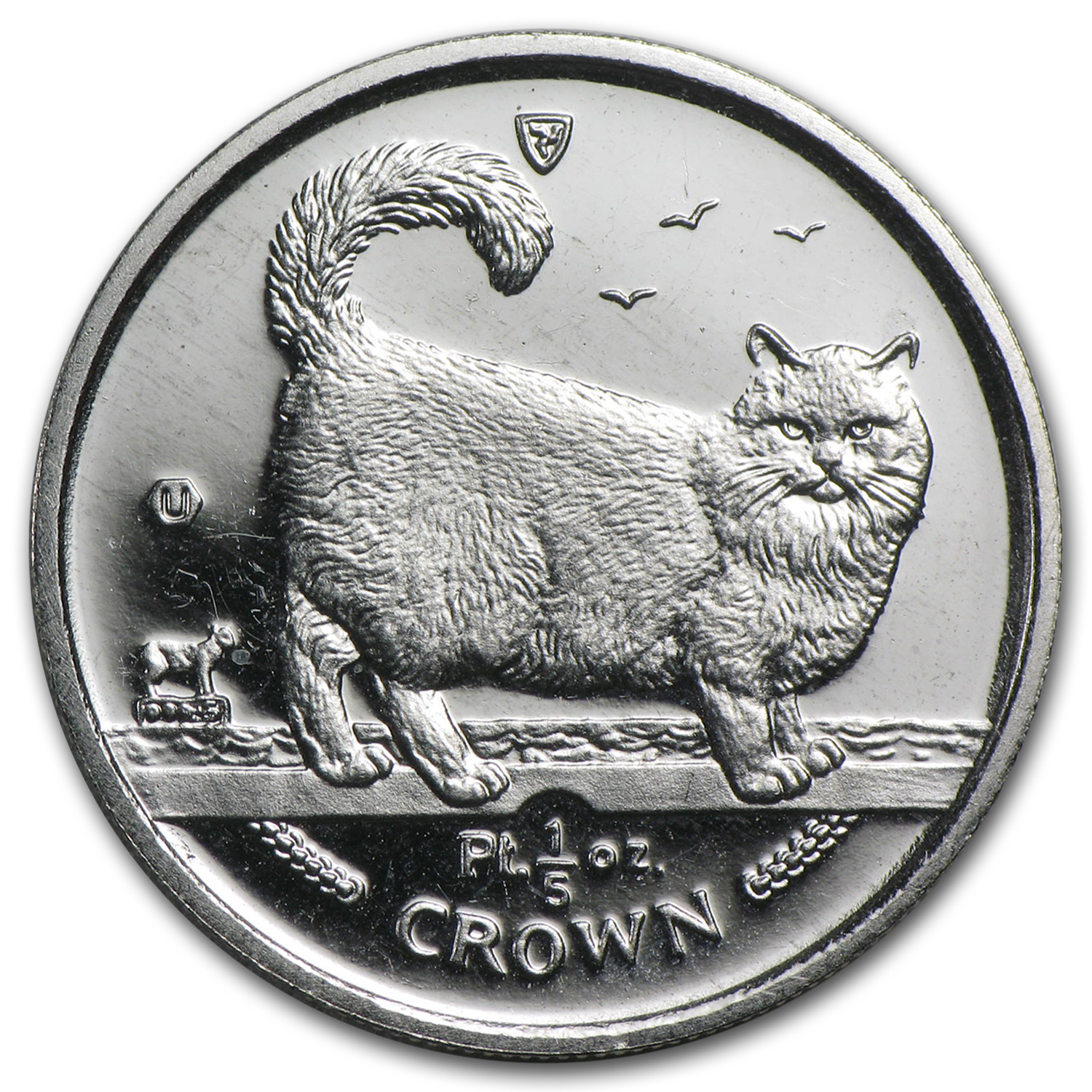 1/5 oz Isle of Man Platinum Persian Cat