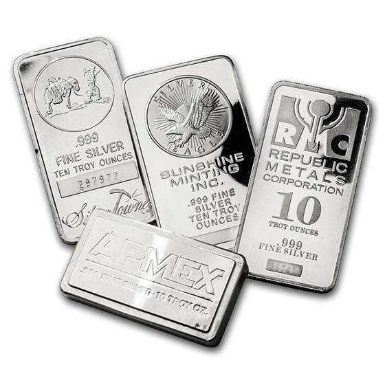 10 oz Silver Bar - Secondary Market