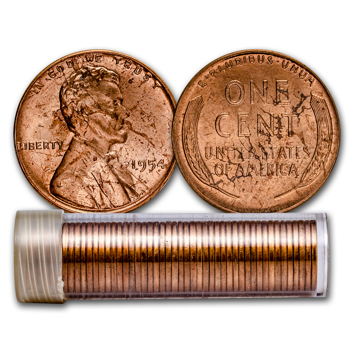1954 Lincoln Cent 50-Coin Roll BU