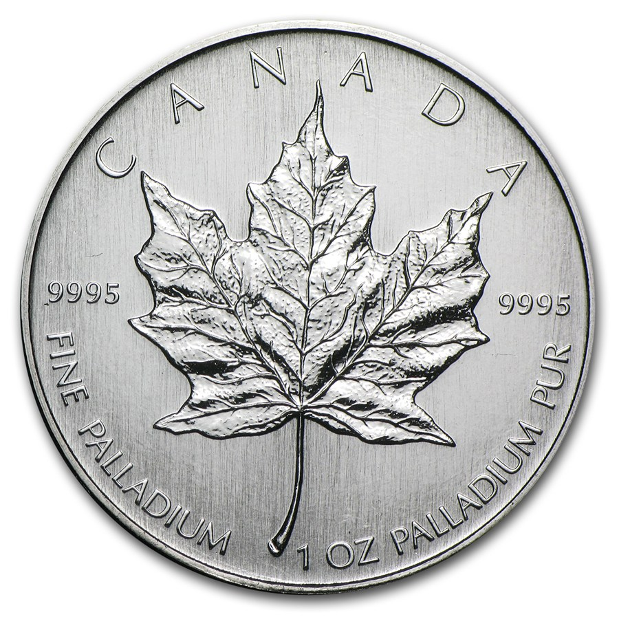 2007 1 oz Palladium Canadian Maple Leaf BU