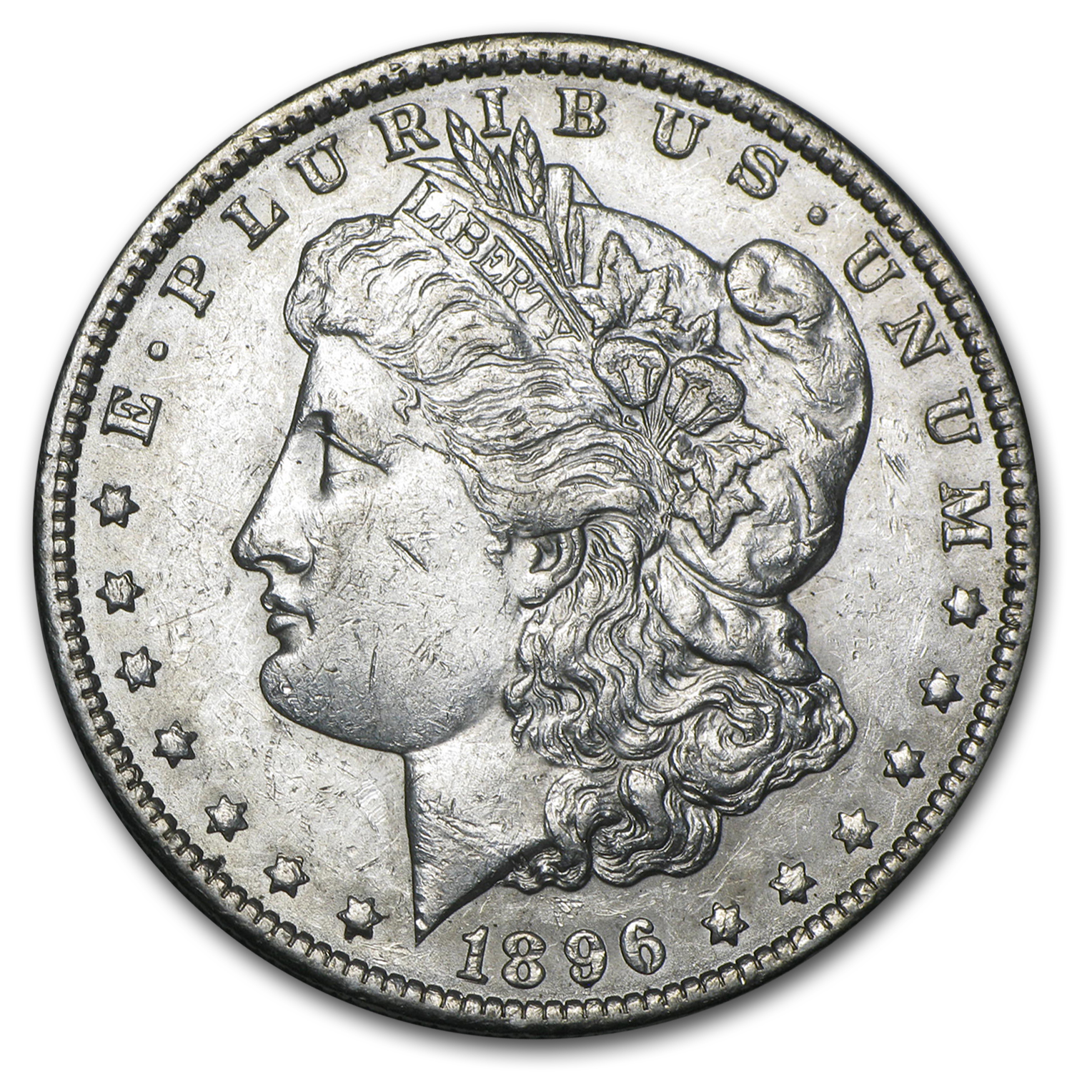 1896-O Morgan Dollar - Almost Uncirculated-55