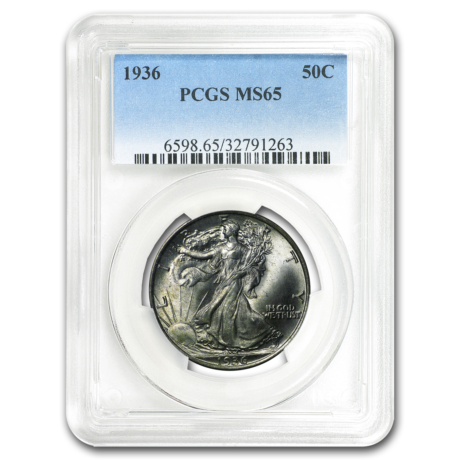 1936 Walking Liberty Half Dollar MS-65 PCGS