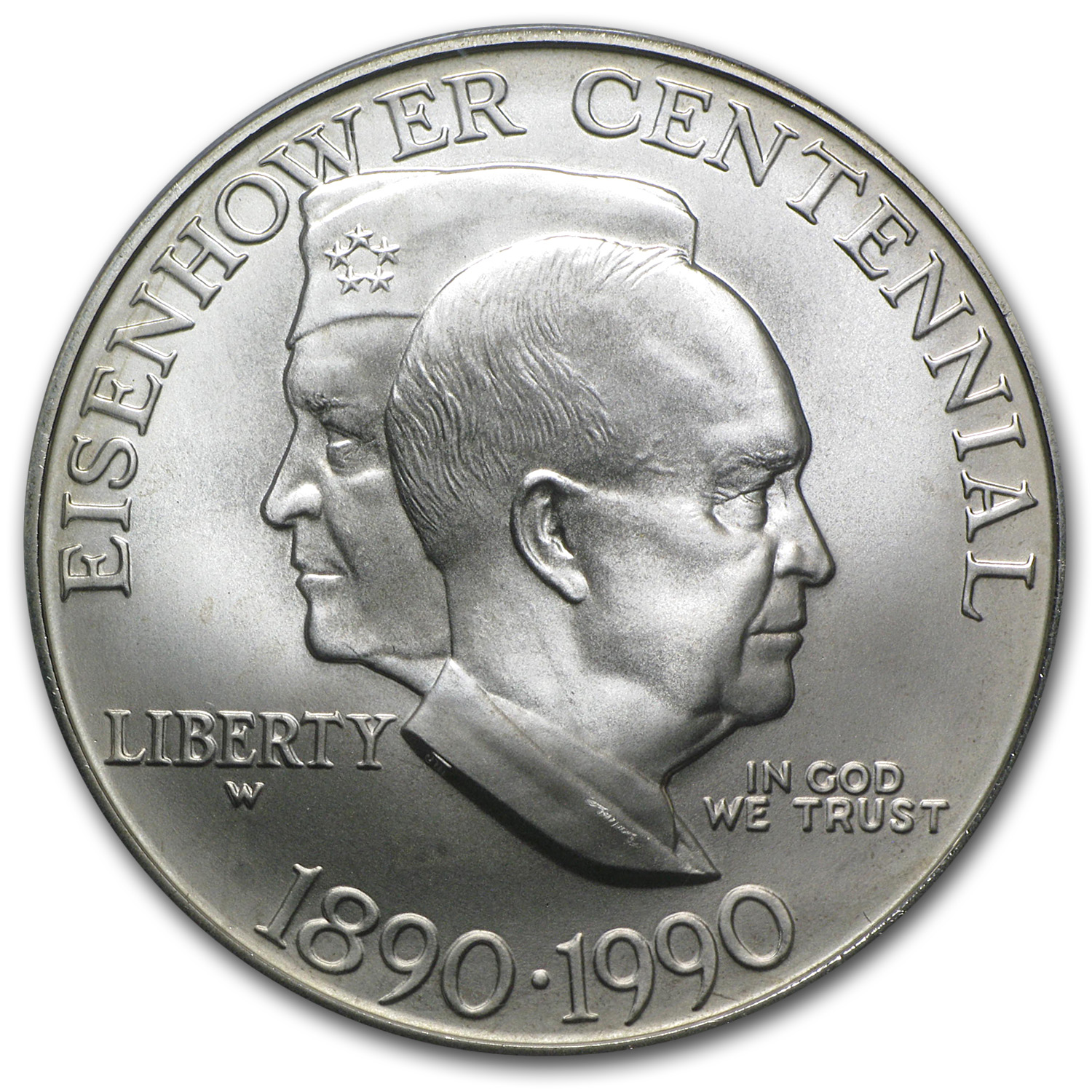 1990-W Eisenhower Centennial $1 Silver Commemorative MS-69 PCGS