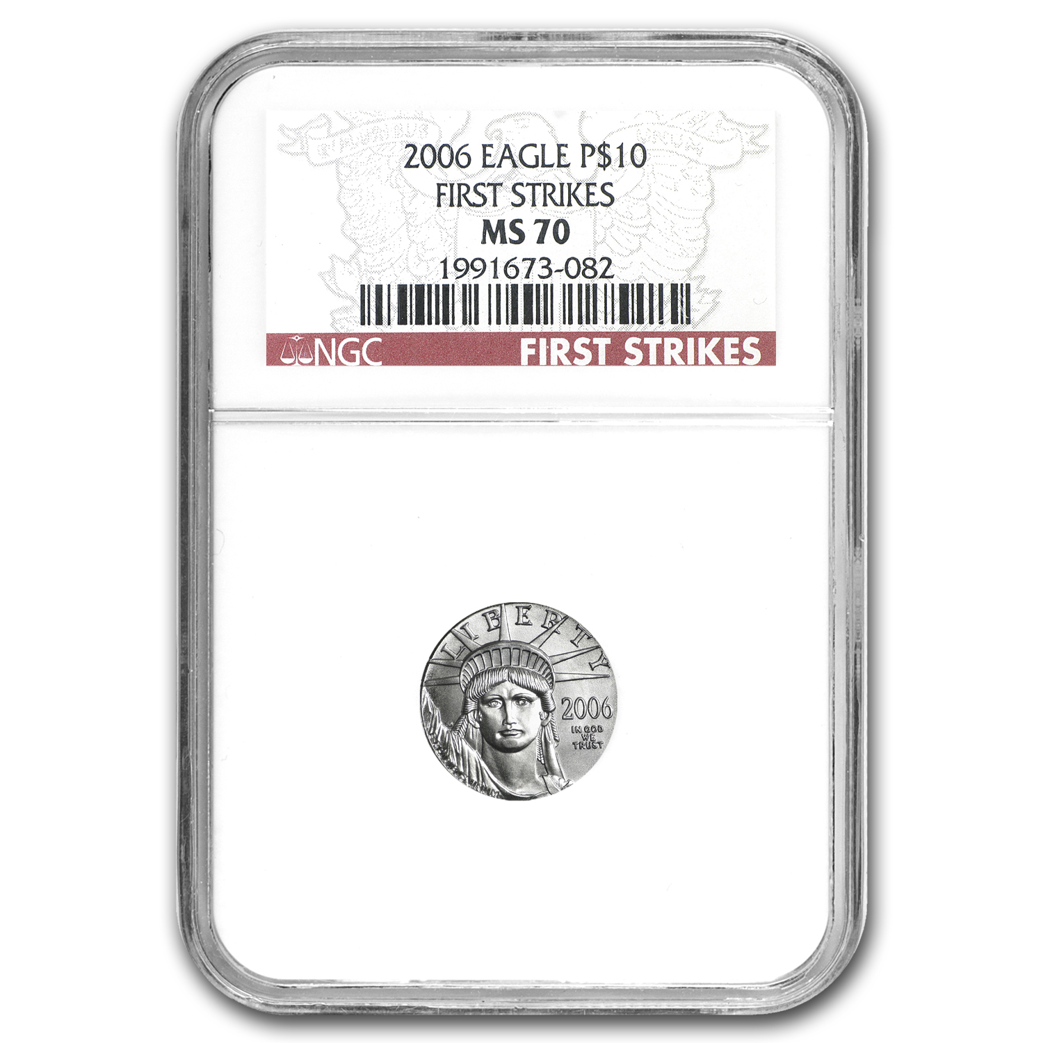 2006 1/10 oz Platinum American Eagle MS-70 NGC (First Strikes)