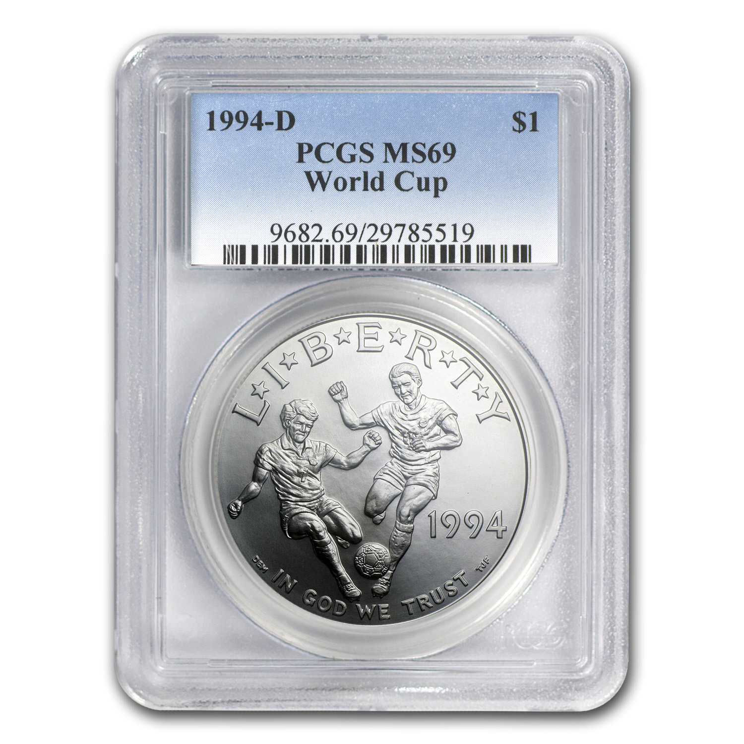 1994-D World Cup $1 Silver Commemorative MS-69 PCGS