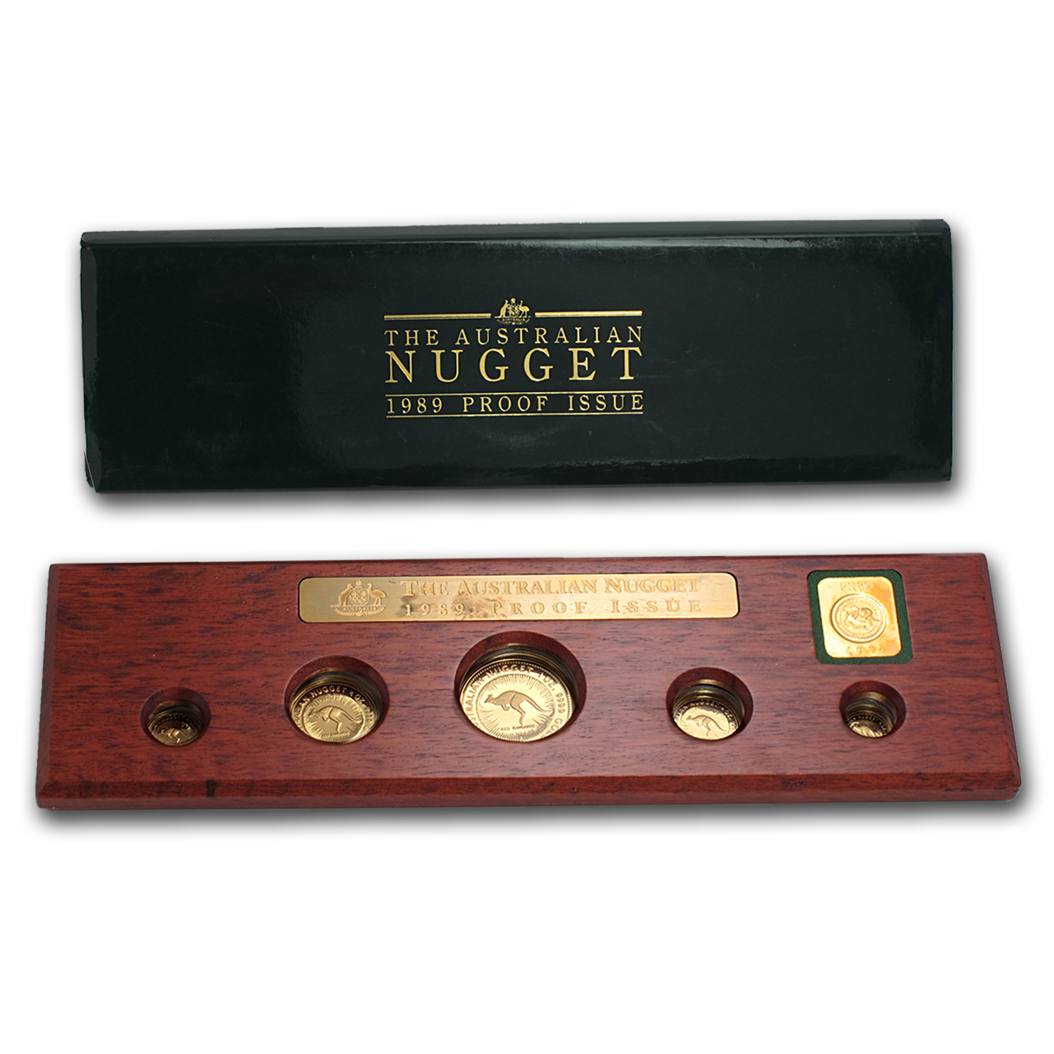 1989 5 coin Australian Proof Gold Nugget Set
