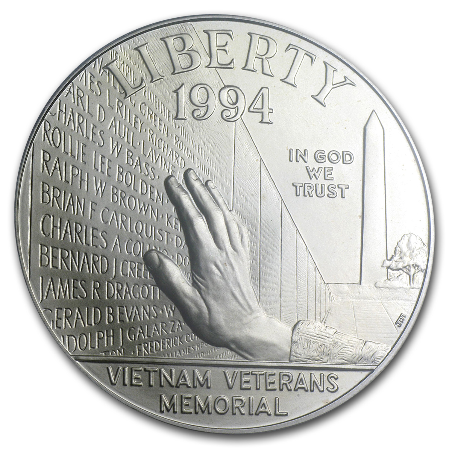 1994-W Vietnam Veterans Memorial $1 Silver Commem - MS-69 PCGS