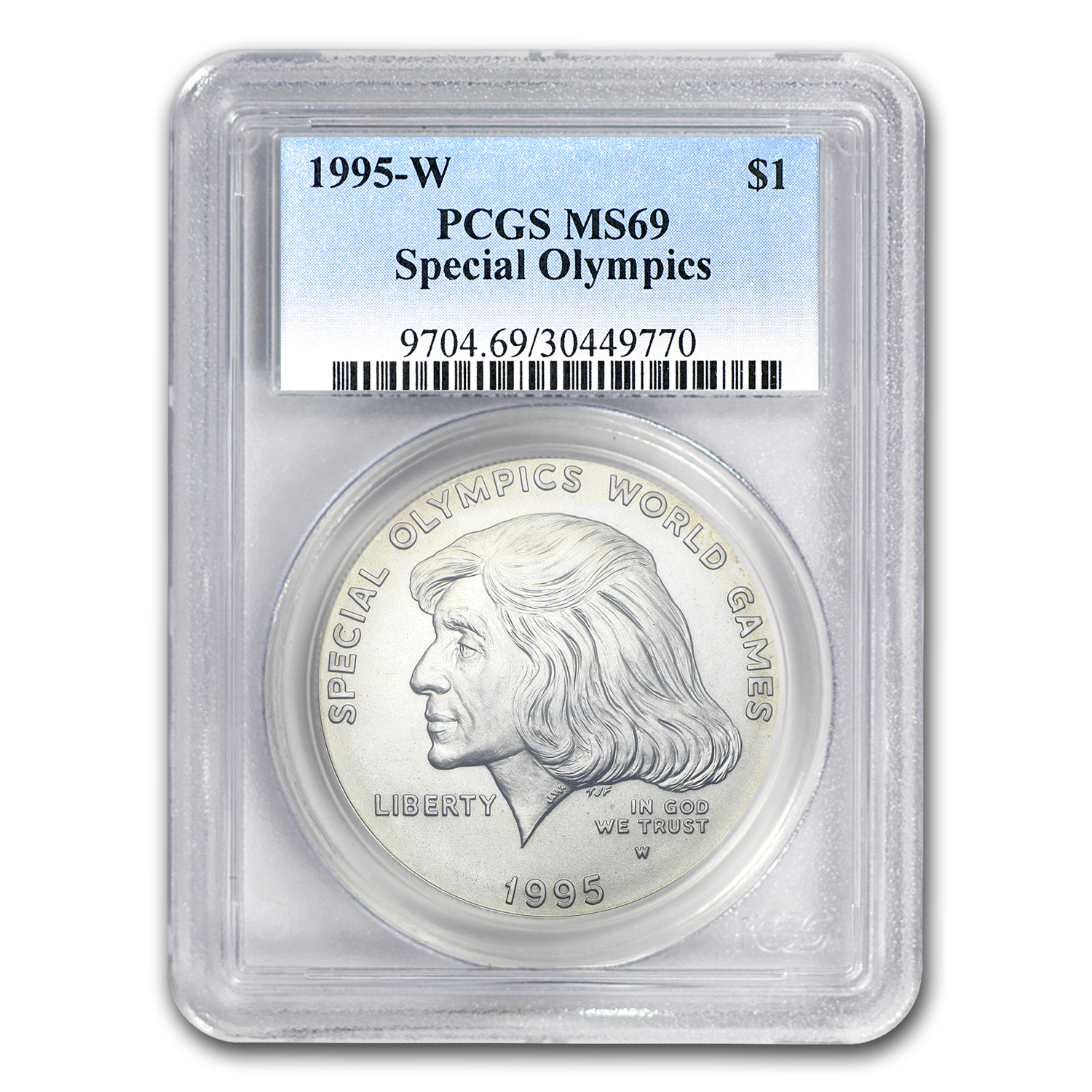 1995-W Special Olympics $1 Silver Commemorative - MS-69 PCGS