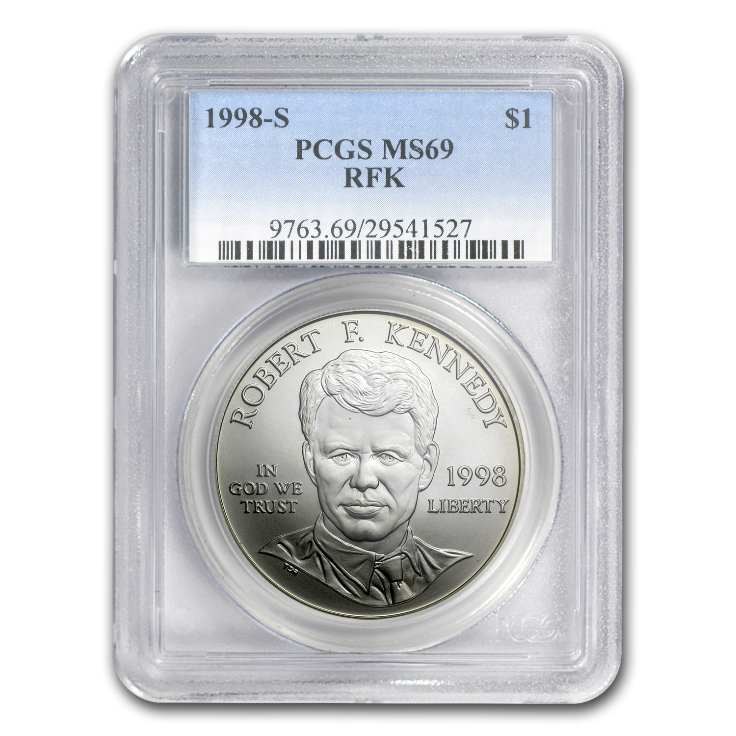 1998-S Robert F. Kennedy $1 Silver Commem MS-69 PCGS