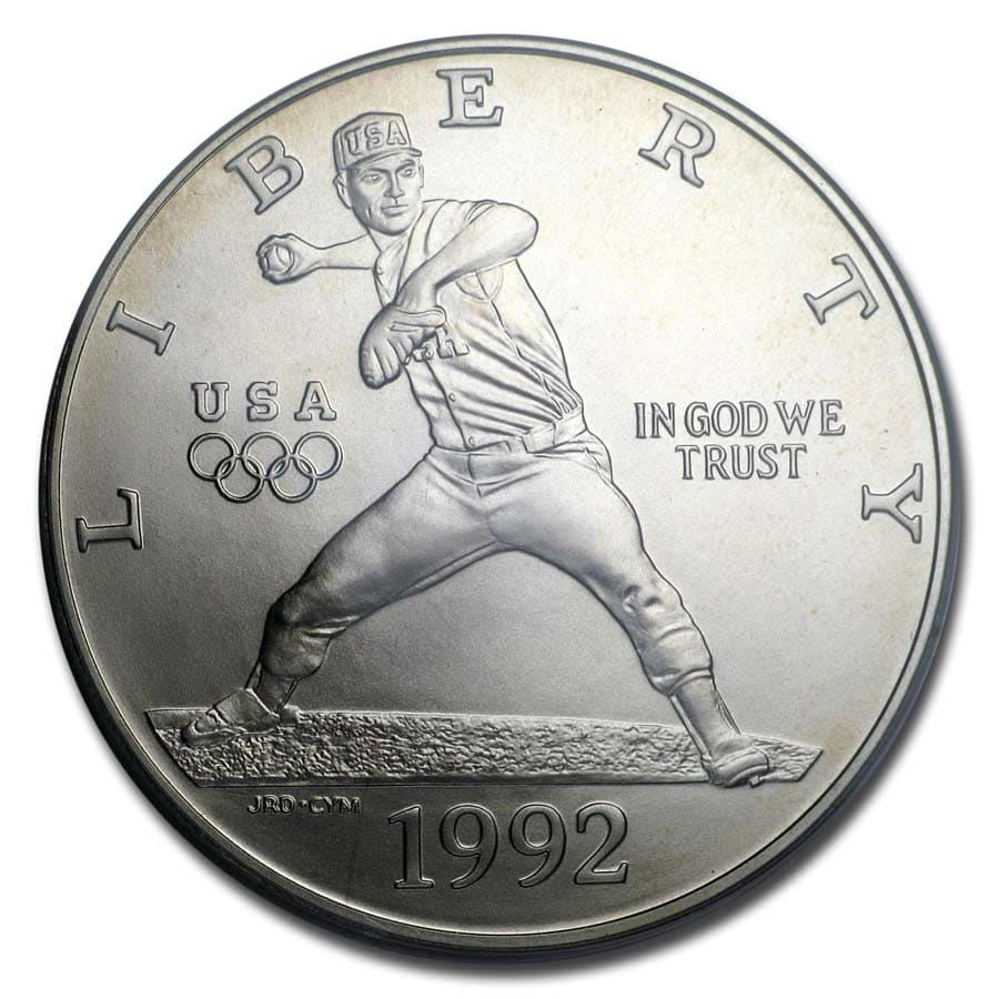 1992-D Olympic Baseball $1 Silver Commemorative MS-69 PCGS