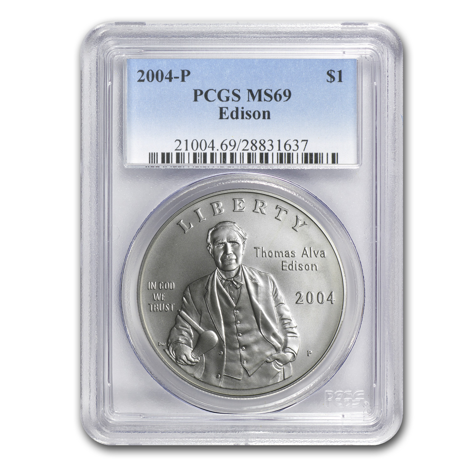 2004-P Thomas Edison $1 Silver Commemorative MS-69 PCGS