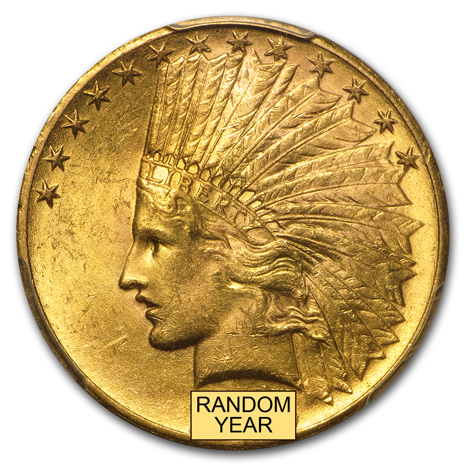 $10 Indian Gold Eagle MS-61 PCGS