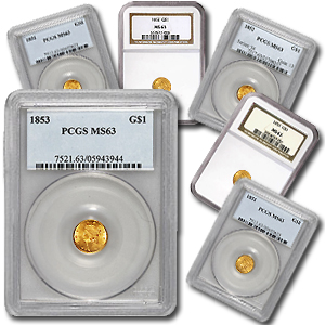 $1 Liberty Head Gold Type 1 MS-63 NGC/PCGS