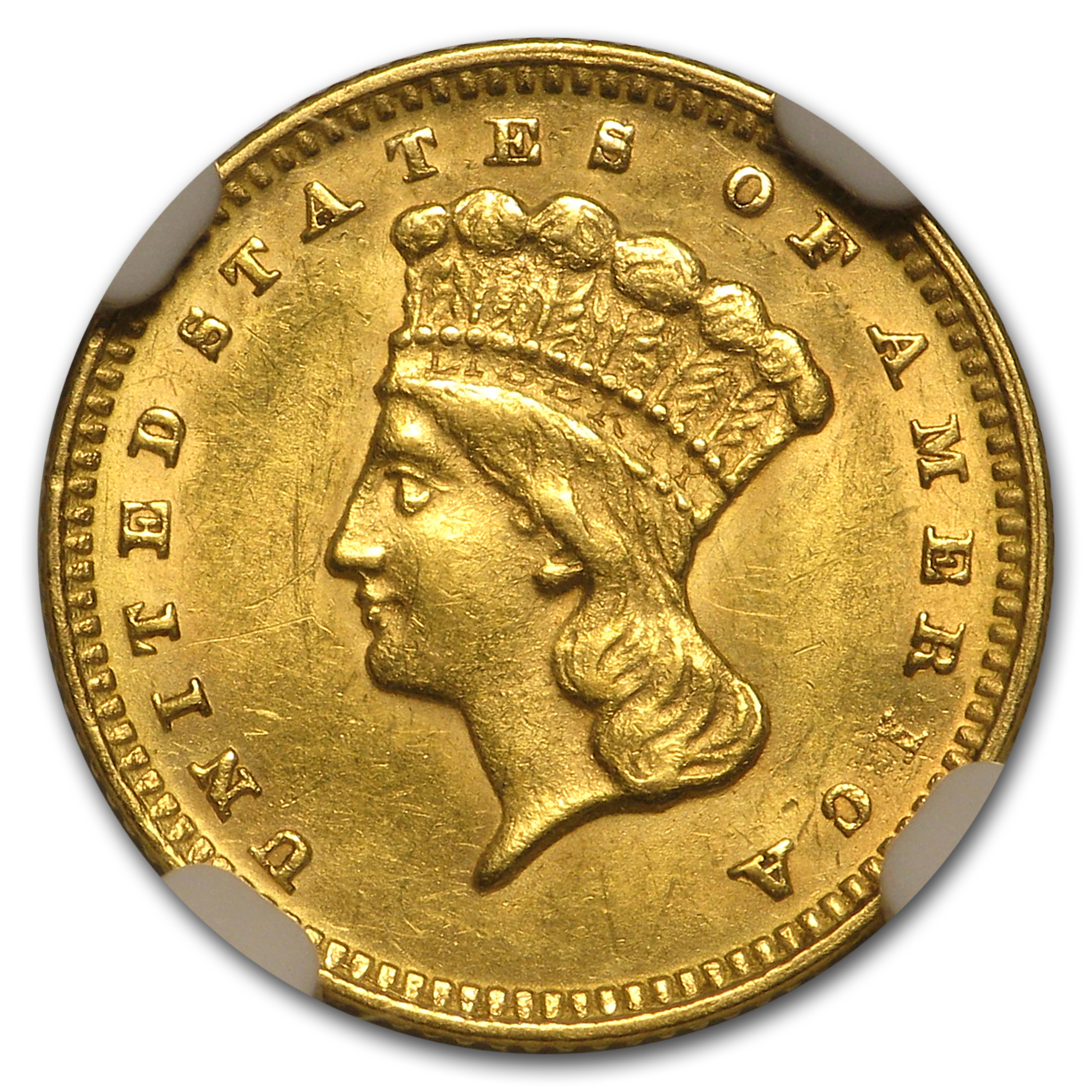 $1 Indian Head Gold Type 3 MS-62 NGC/PCGS