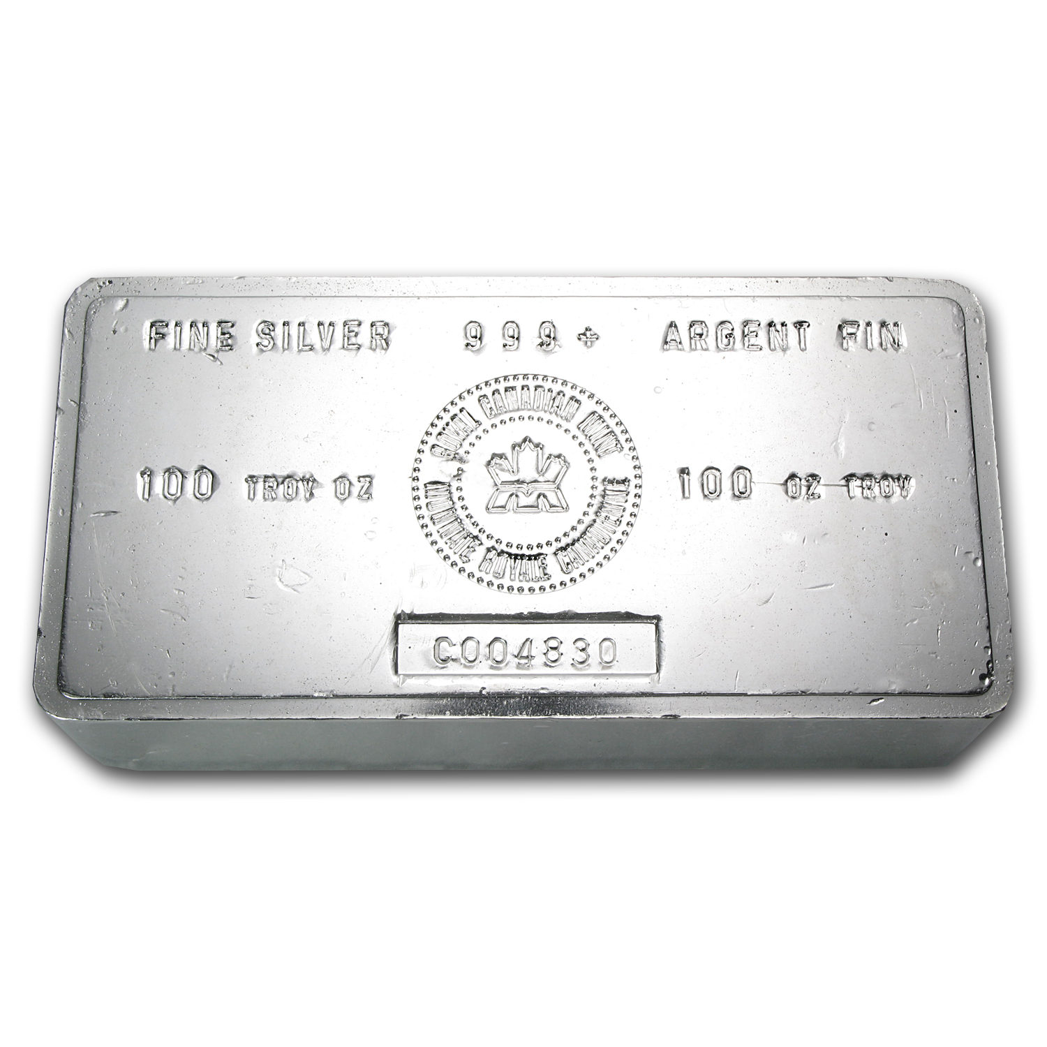 100 oz Silver Bar - RCM (Vintage)