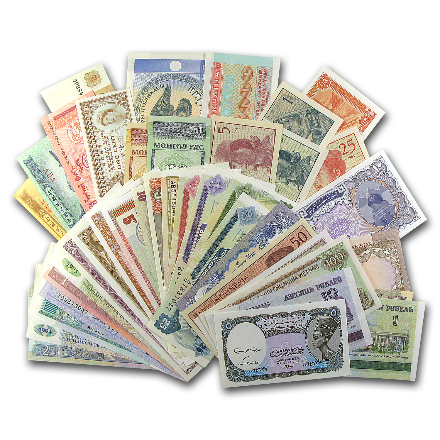 100 Piece World Bank Note Assortment Unc