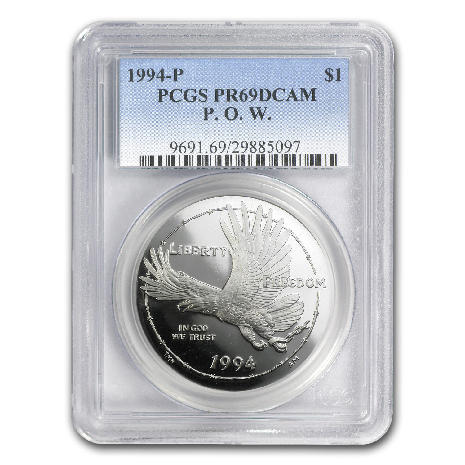 1994-P Prisoner of War $1 Silver Commemorative PR-69 PCGS