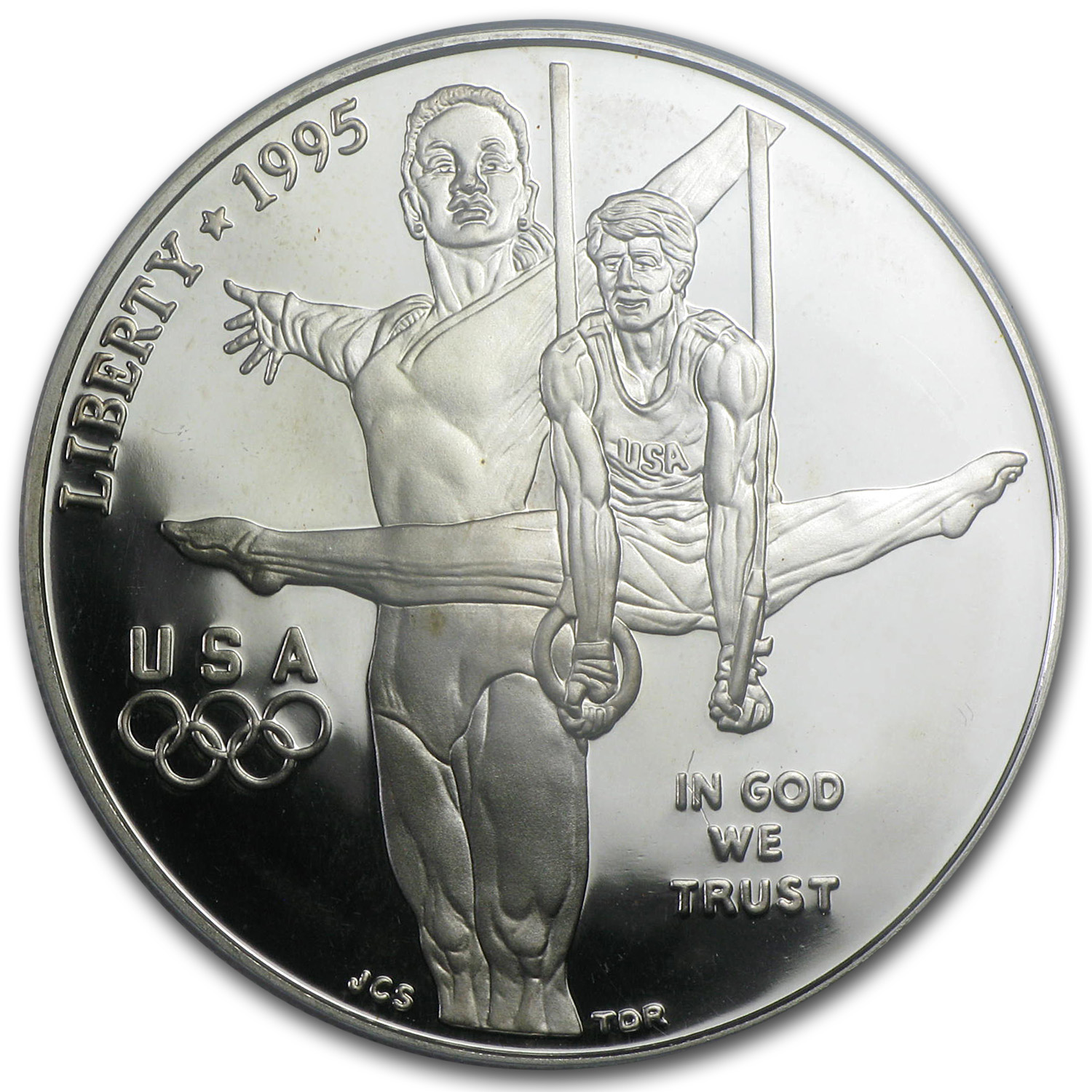 1995-P Olympic Gymnast $1 Silver Commemorative PR-69 PCGS