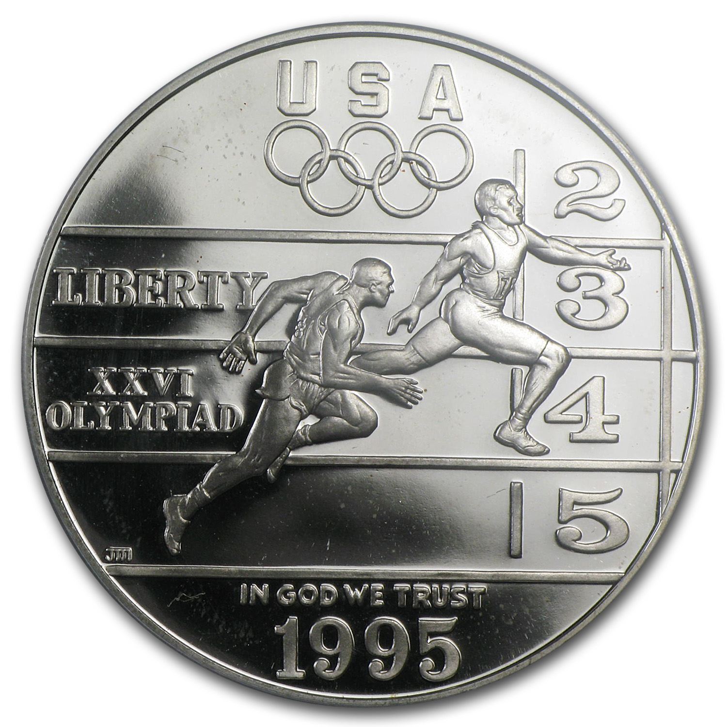 1995-P Olympic Track and Field $1 Silver Commem - PR-69 DCAM PCGS