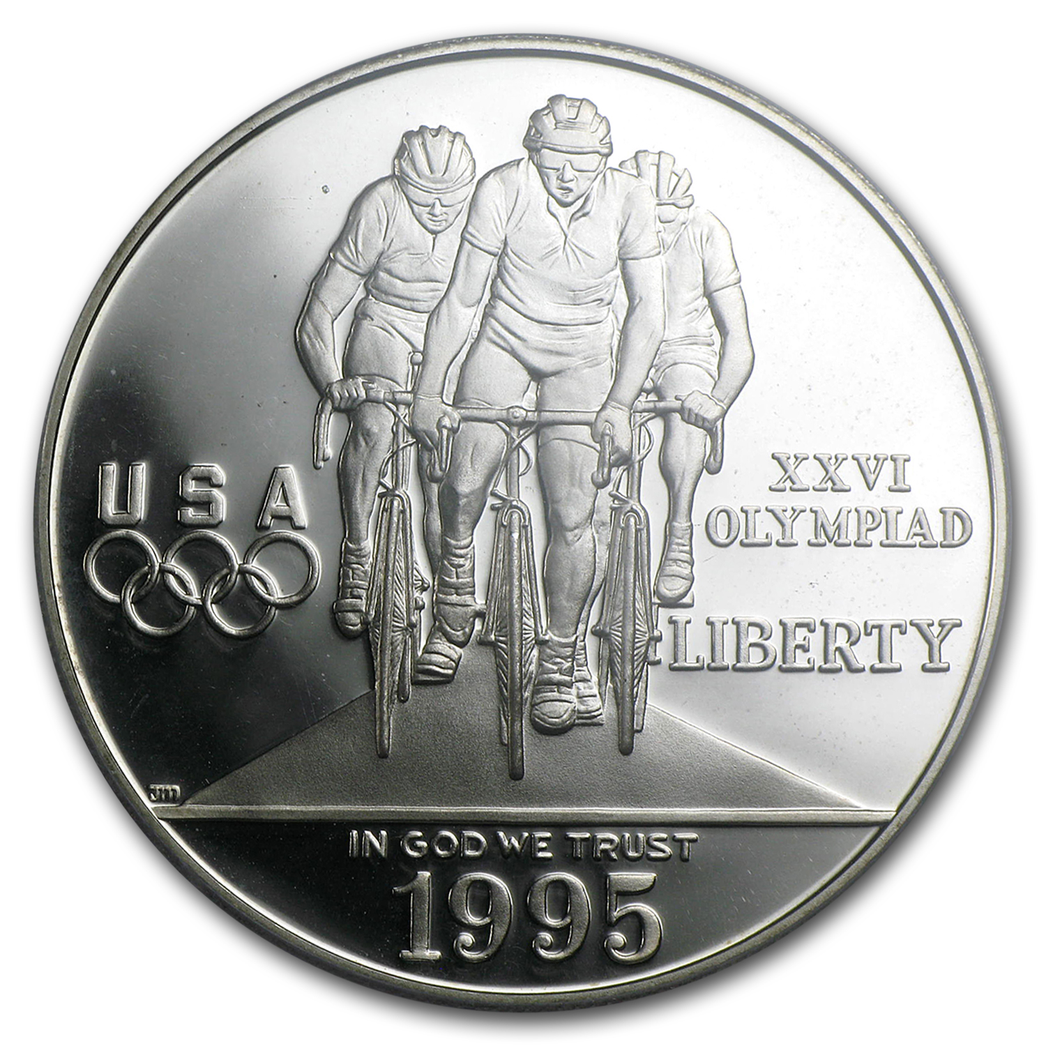 1996-P Olympic Cycling $1 Silver Commemorative PR-69 PCGS
