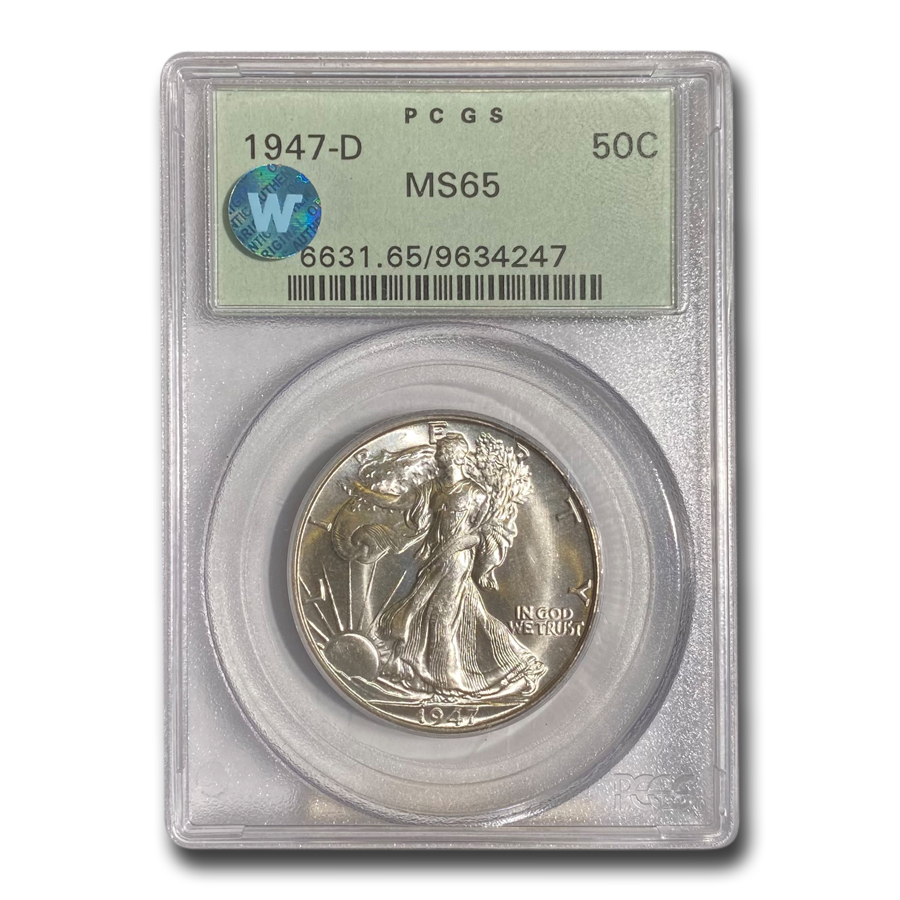 1947-D Walking Liberty Half Dollar MS-65 PCGS