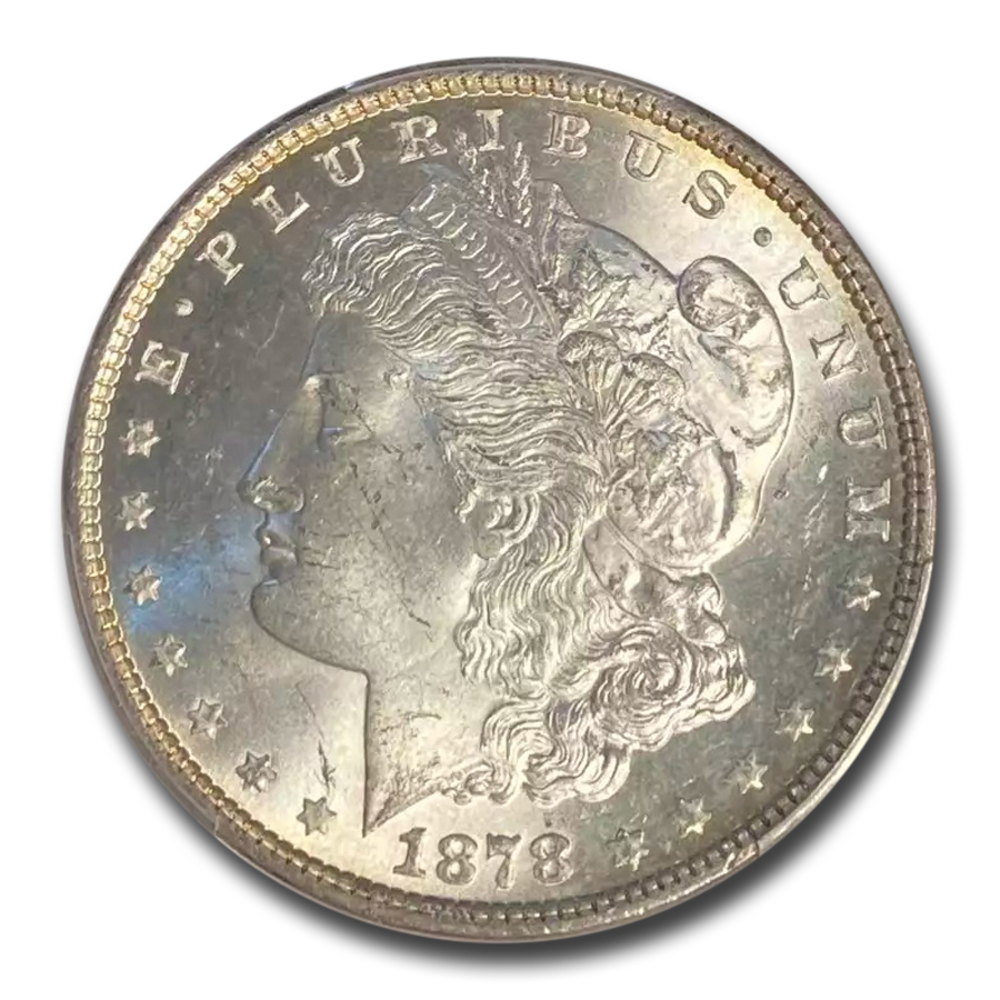 1878 Morgan Dollar 7 TF Rev of 79 MS-64 PCGS
