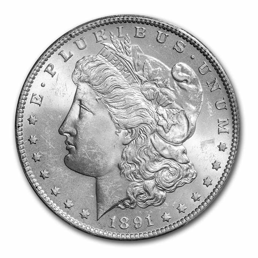 1891-S Morgan Dollar MS-64 PCGS