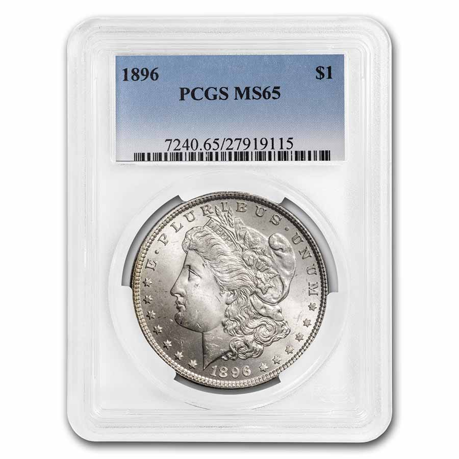 1896 Morgan Dollar - MS-65 PCGS
