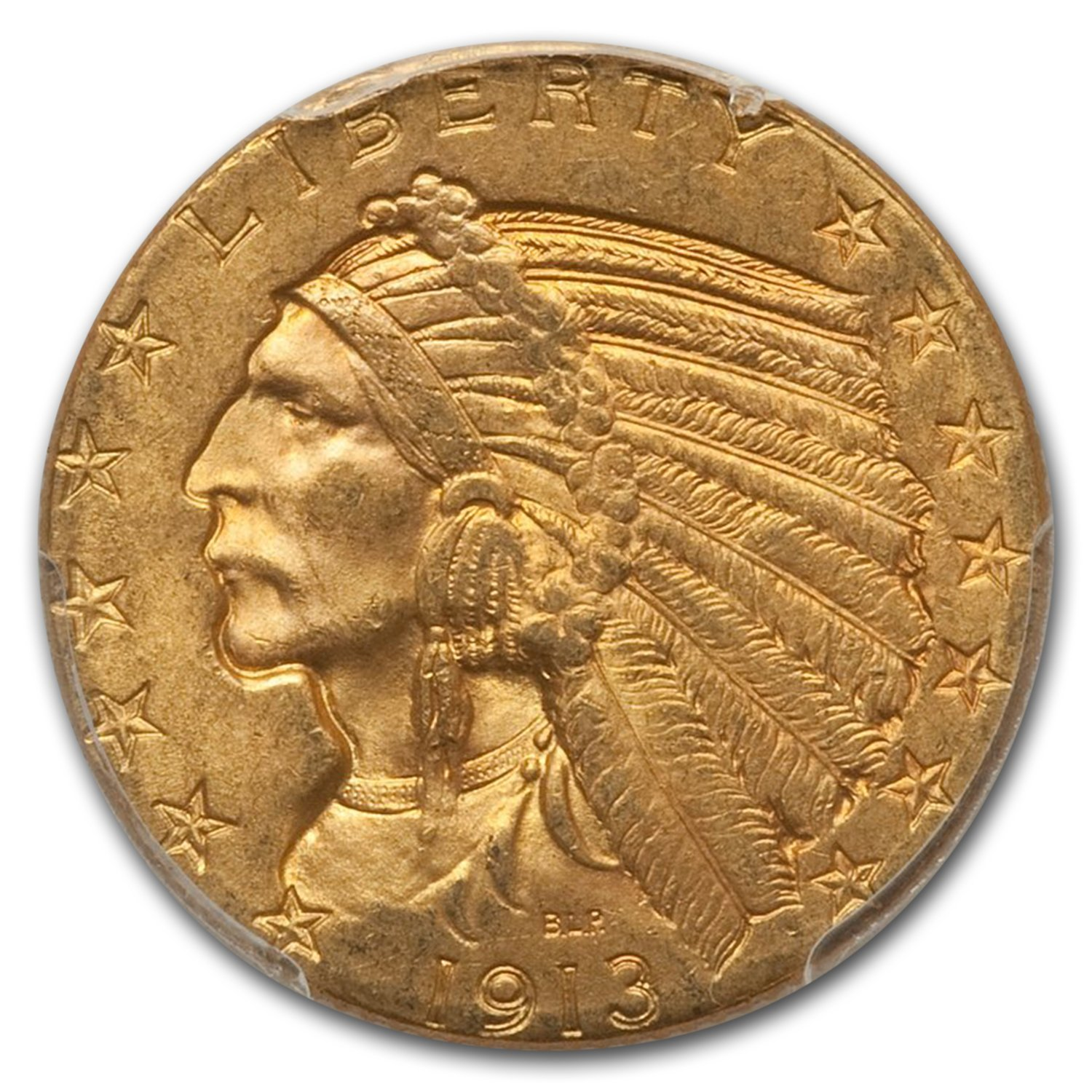 1913 $5 Indian Gold Half Eagle MS-63 PCGS