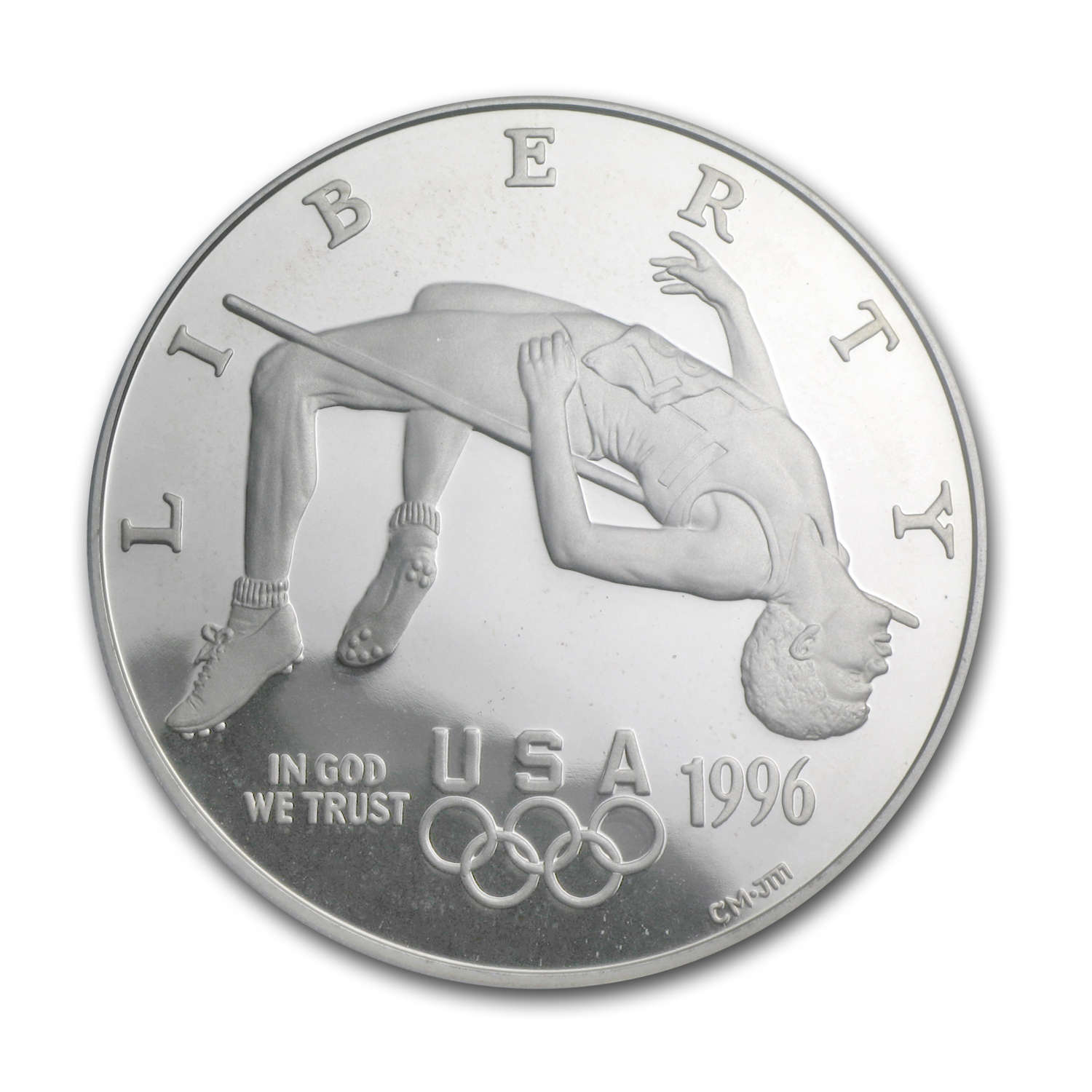 1996-P Olympic High Jump $1 Silver Commem PR-69 PCGS