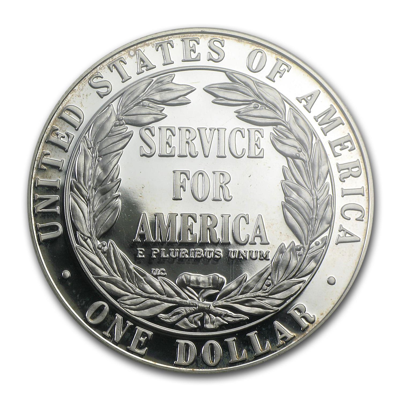 1996 S Community Service 1 Silver Commem Pr 69 Pcgs