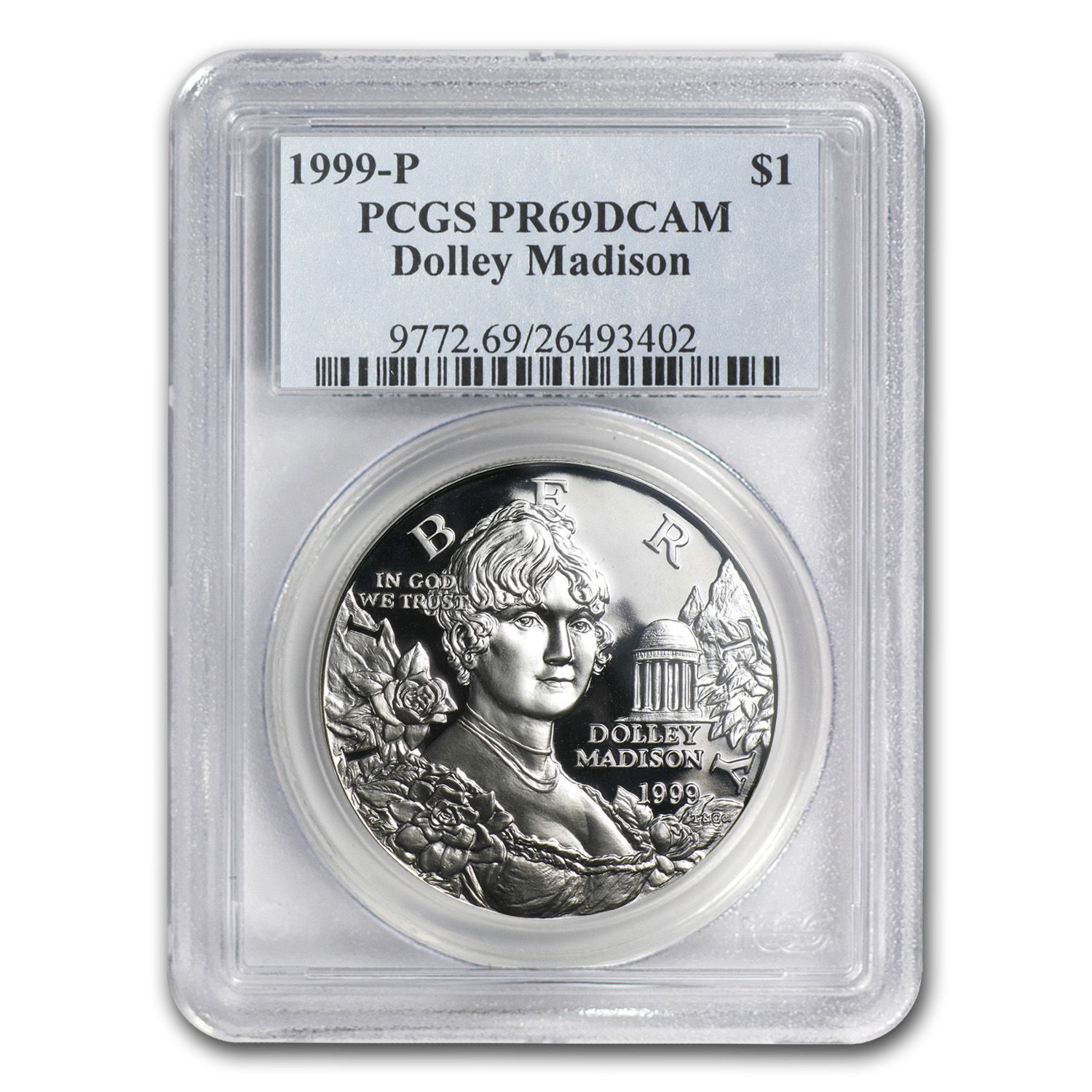 1999-P Dolley Madison $1 Silver Commemorative PR-69 PCGS