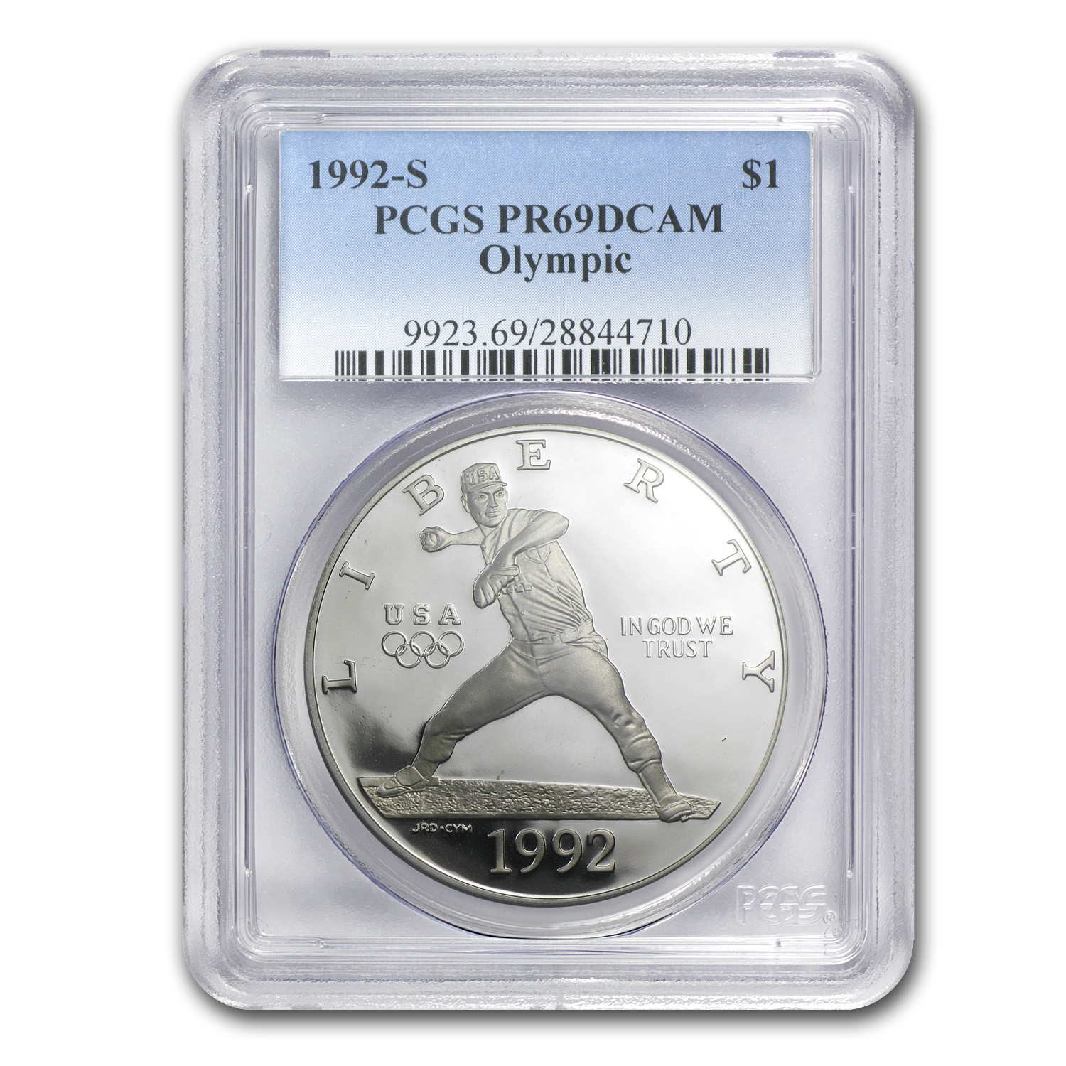 1992-S Olympic Baseball $1 Silver Commemorative PR-69 PCGS