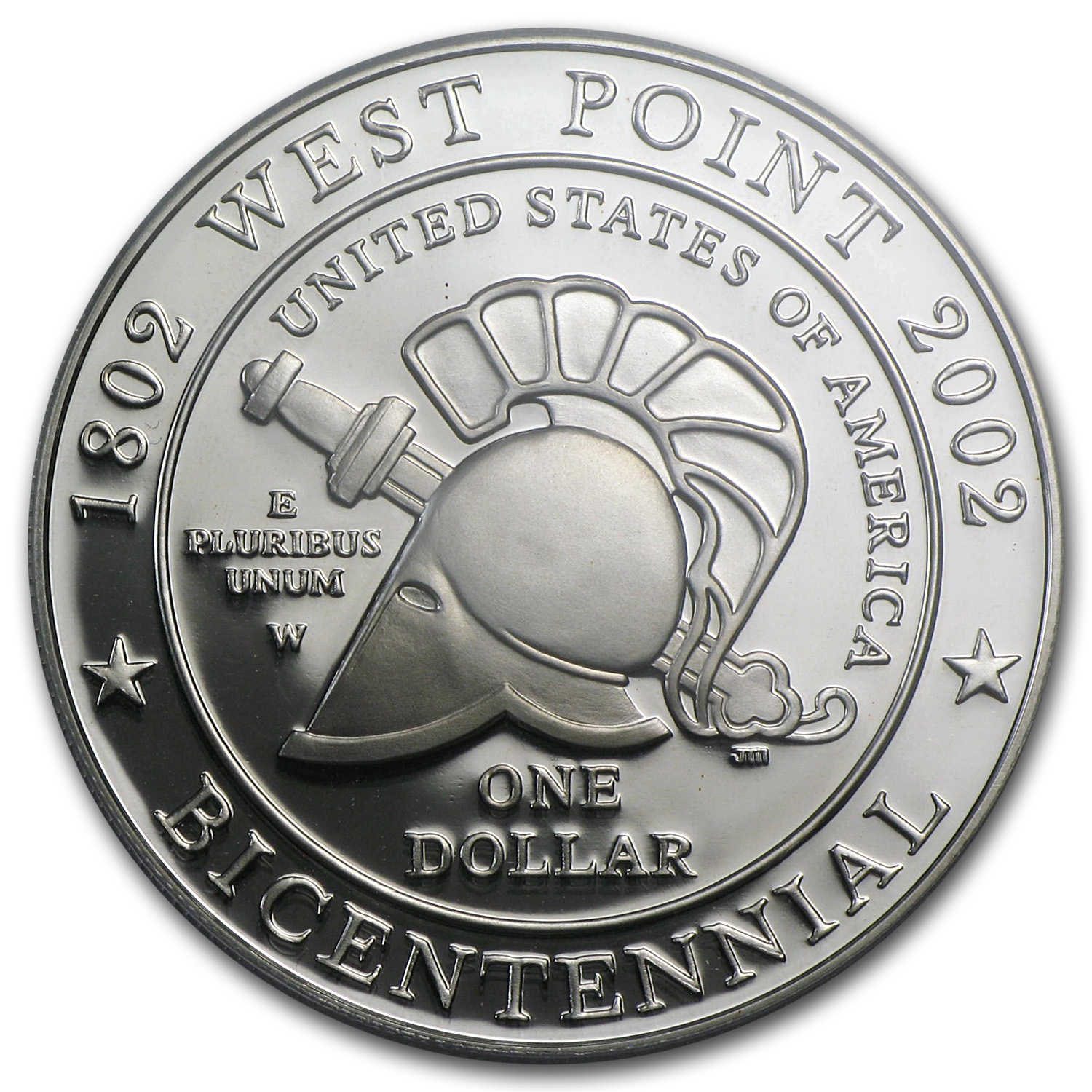 2002-W West Point Bicentennial $1 Silver Commem PR-69 DCAM PCGS
