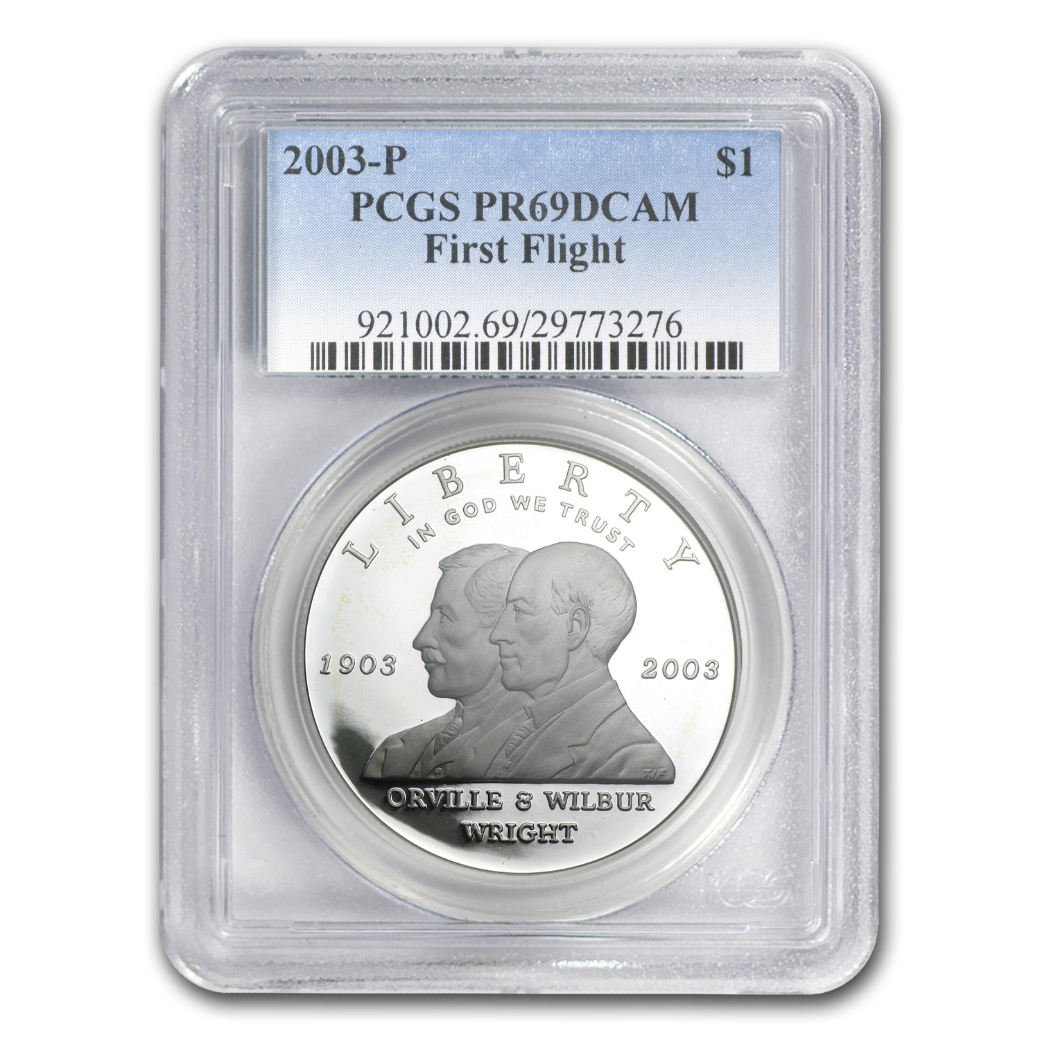 2003-P First Flight Centen'l $1 Silver Commem PR-69 DCAM PCGS