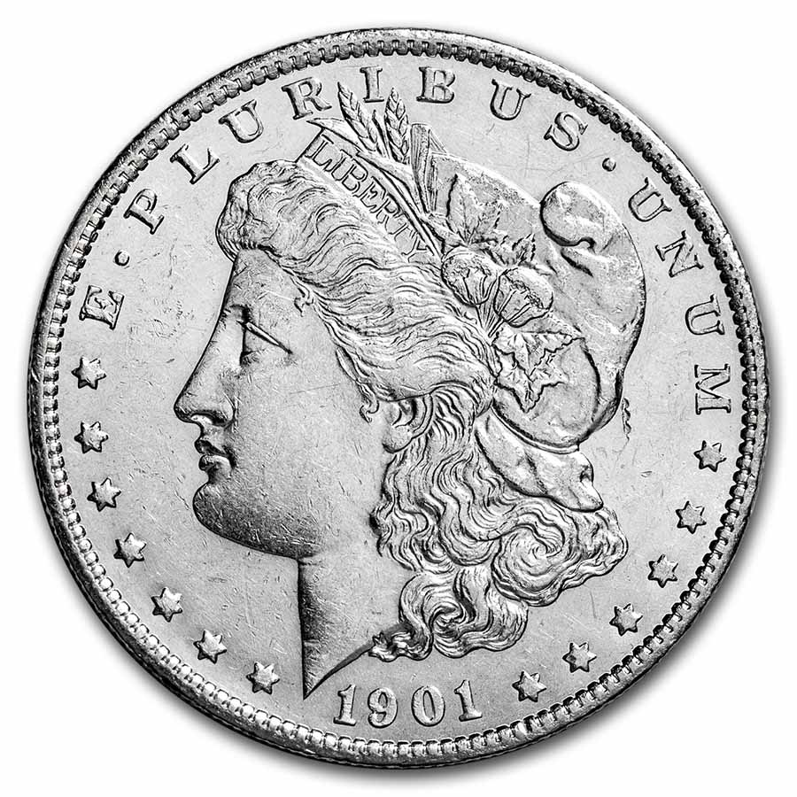 1901-S Morgan Dollar AU-58
