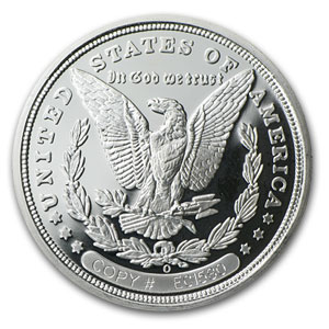 1 oz Silver Round - 1893-O Morgan Dollar Proof (REPLICA )