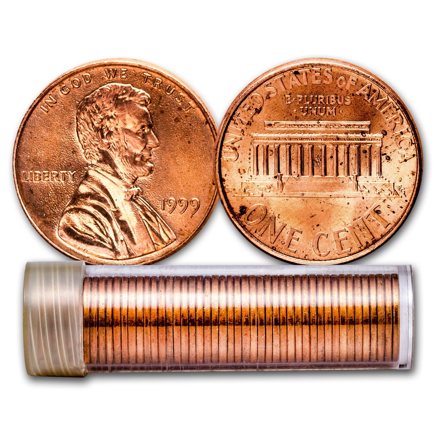 1999 Lincoln Cent 50-Coin Roll BU