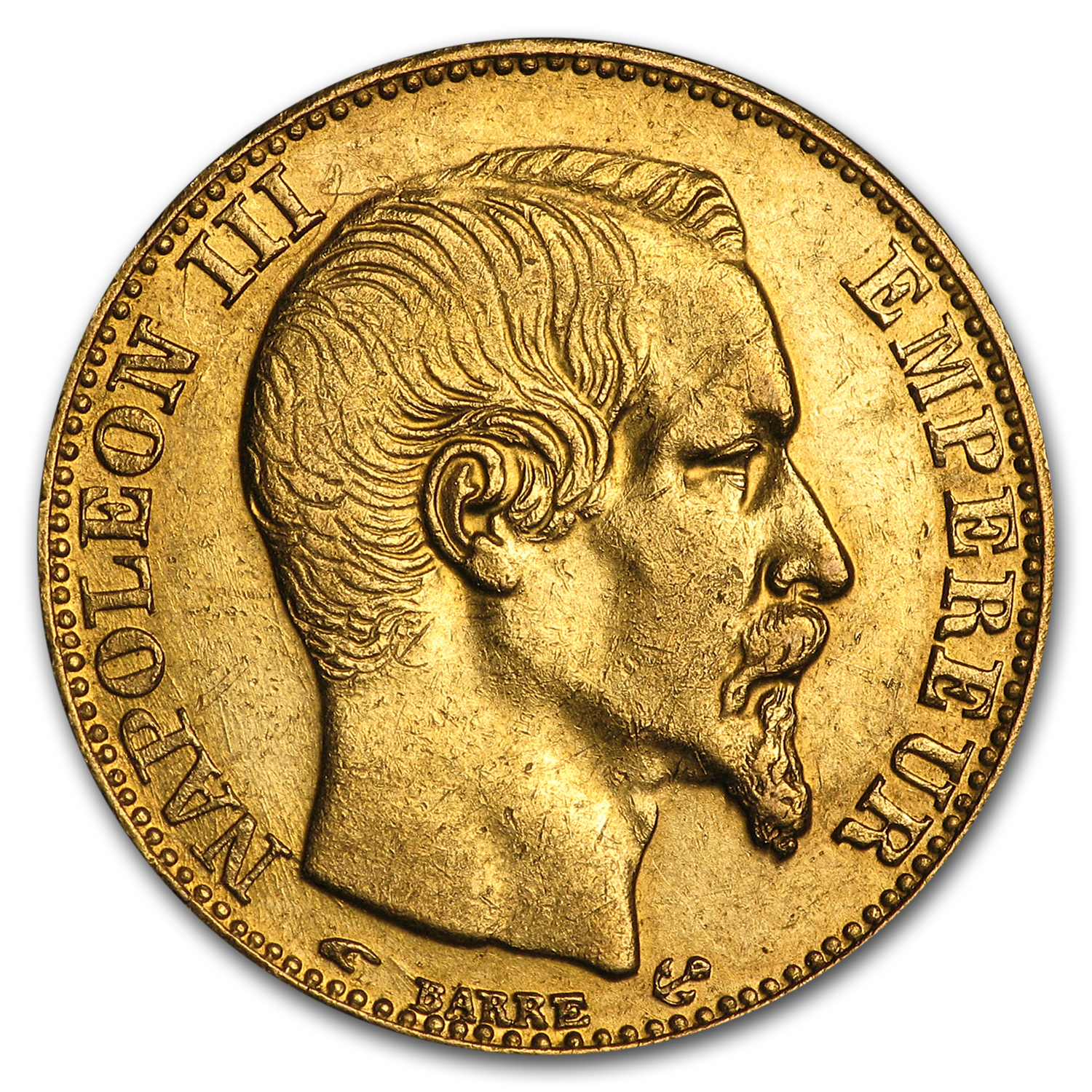 France Gold 20 Francs Napoleon III AU