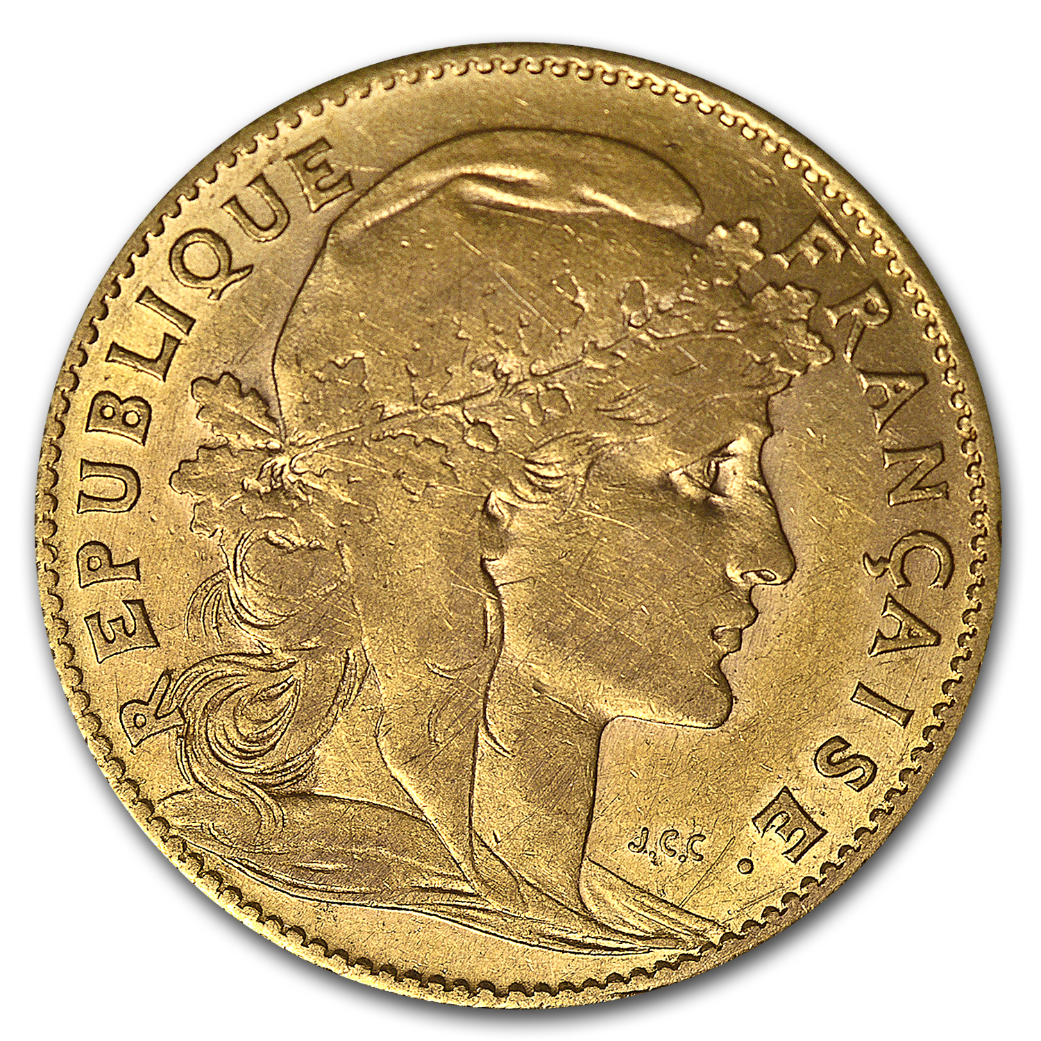 France Gold 10 Francs (Rooster) (XF)