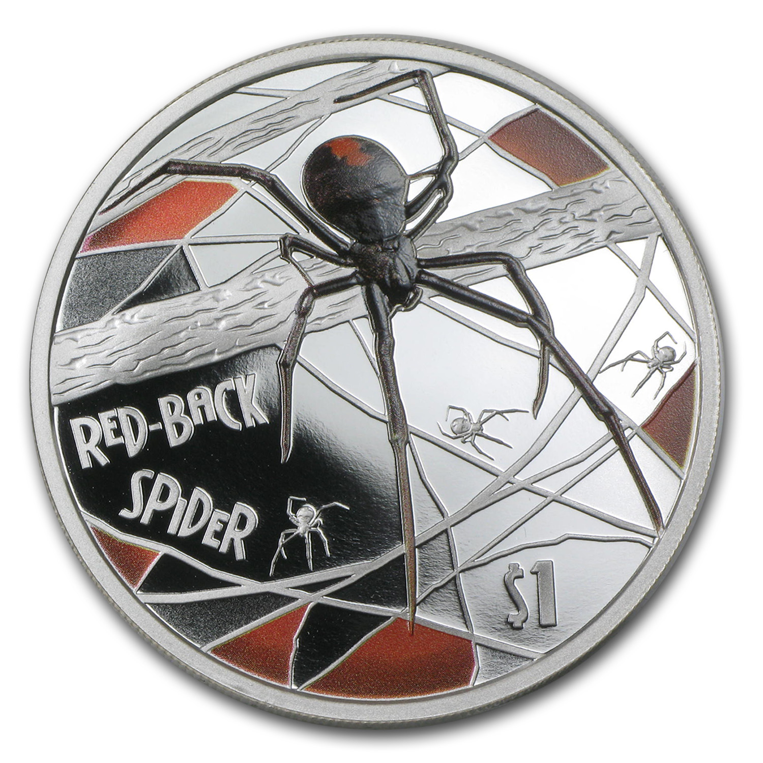 2006 Tuvalu 1 oz Silver Red-Back Spider Proof