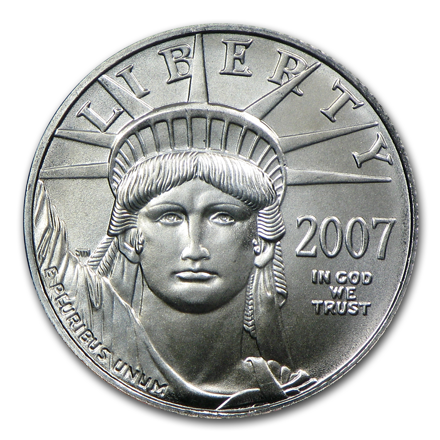 2007 1/10 oz Platinum American Eagle BU