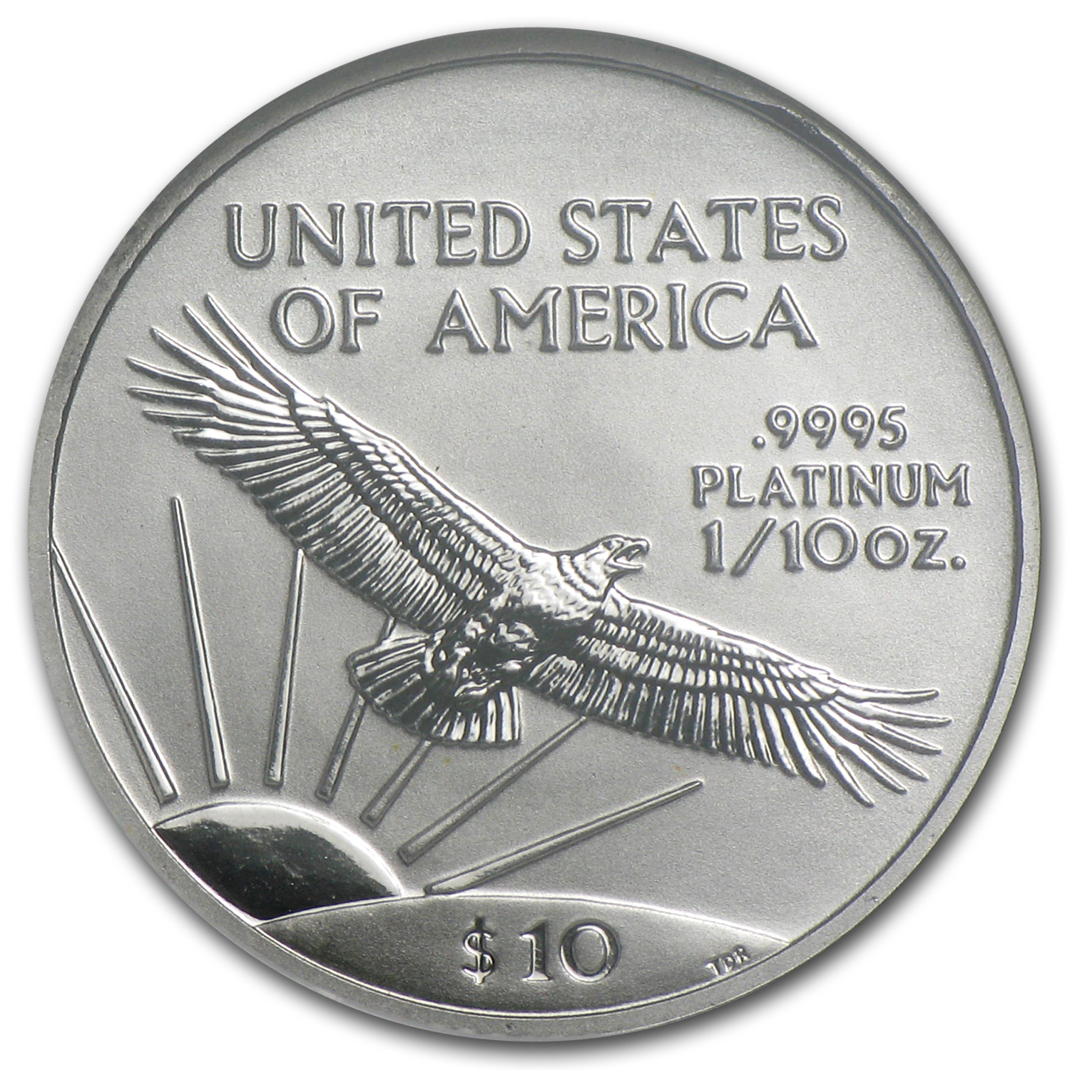 2001 1/10 oz Platinum American Eagle MS-70 NGC