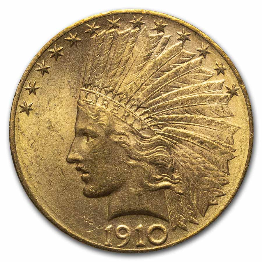1910-D $10 Indian Gold Eagle MS-63 PCGS