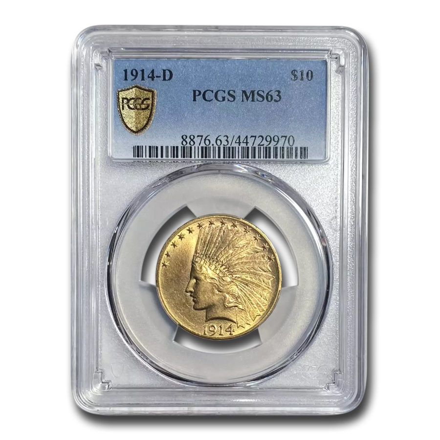 1914-D $10 Indian Gold Eagle MS-63 PCGS