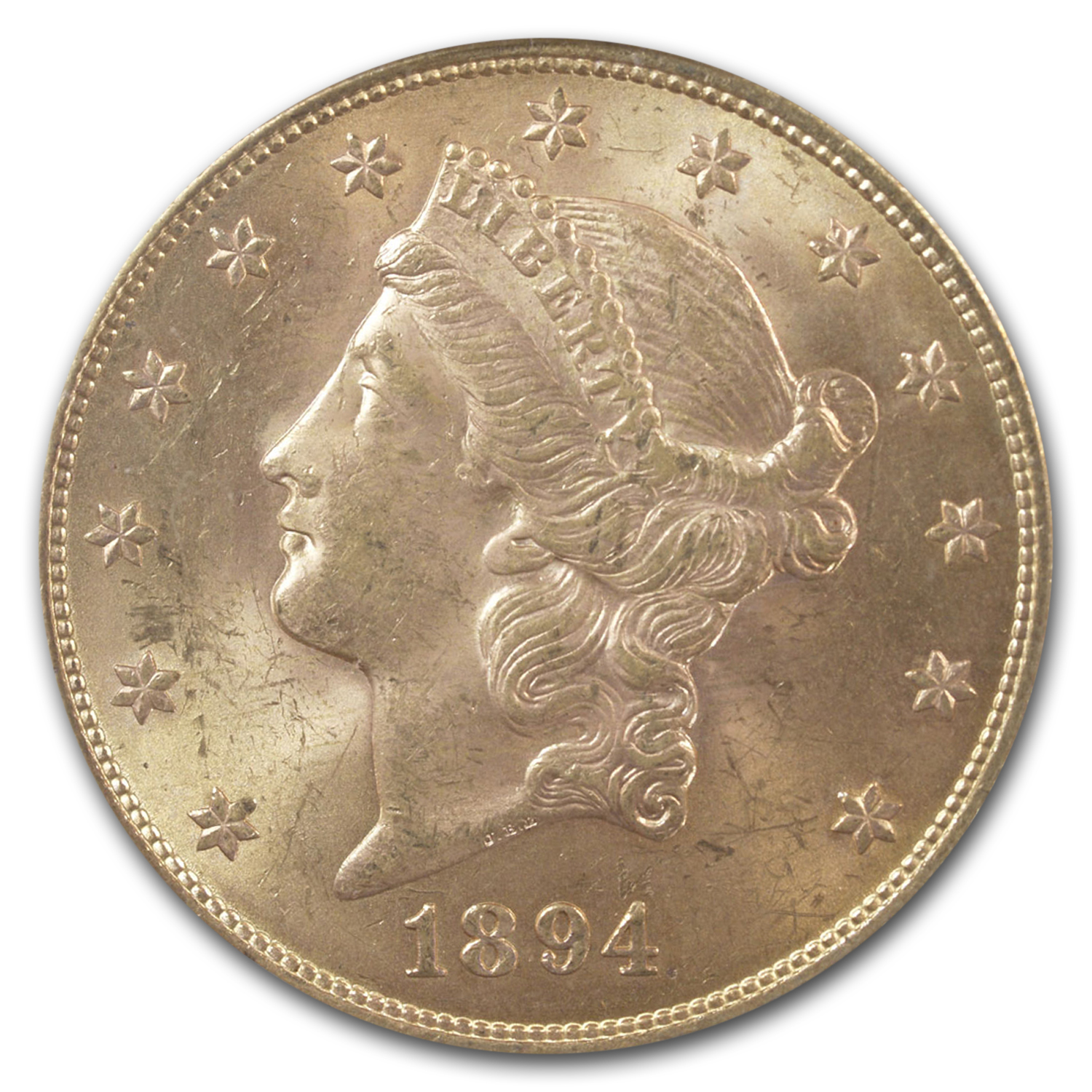 1894-S $20 Liberty Gold Double Eagle MS-63 PCGS