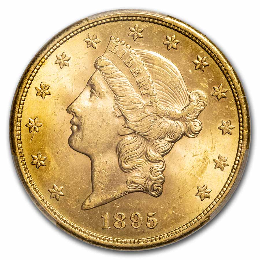 1895-S $20 Liberty Gold Double Eagle MS-63 PCGS