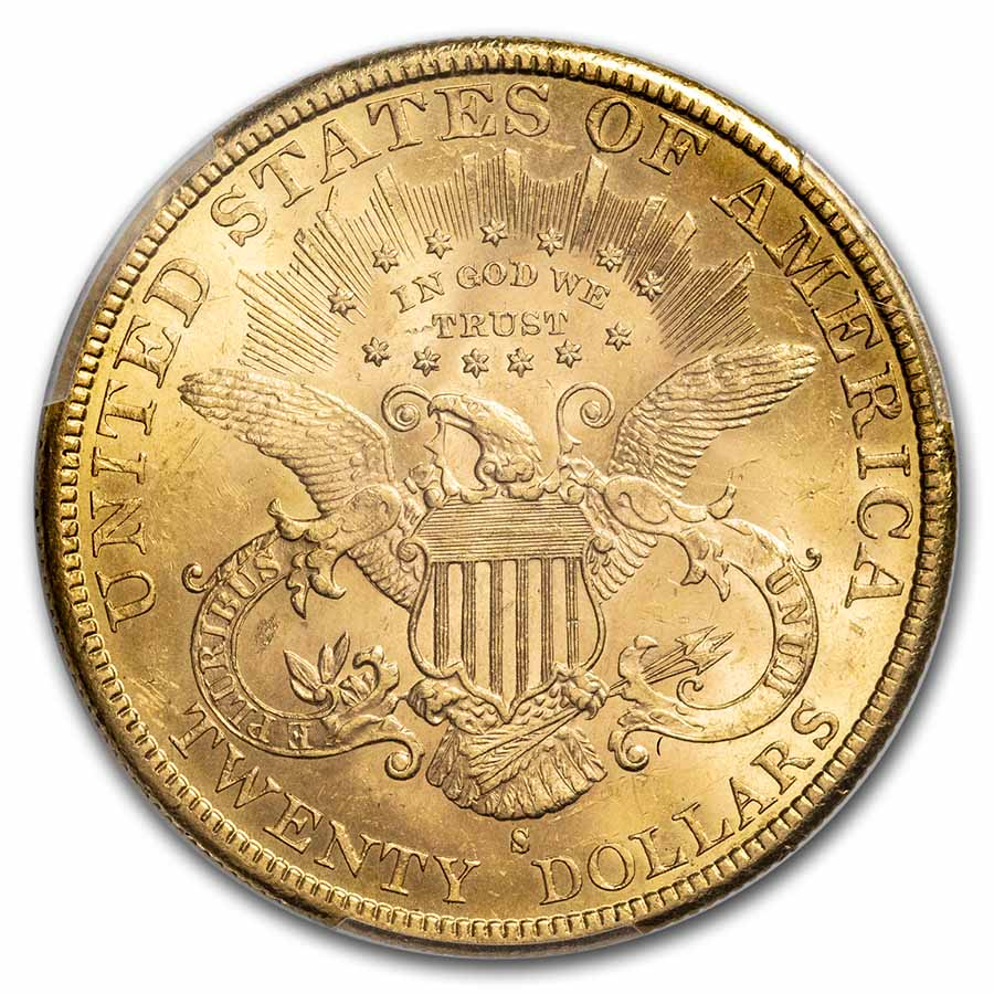 1895-S $20 Gold Liberty Double Eagle MS-63 PCGS