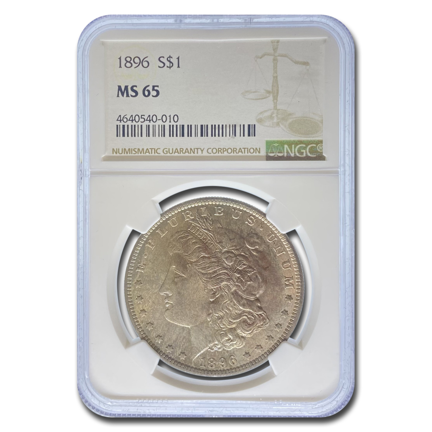1896 Morgan Dollar - MS-65 NGC