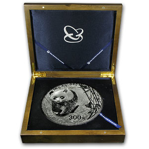 2002 1 Kilo Silver Chinese Panda Proof (w/Box & COA)